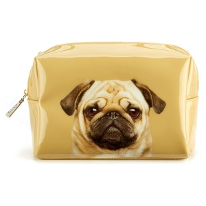 Pug on Caramel Large Beauty Bag
