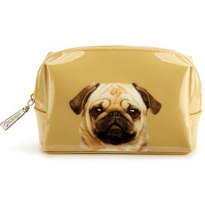 Pug on Caramel Beauty Bag