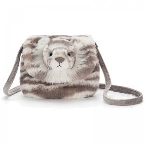 Sacha Snow Tiger Shoulder Bag