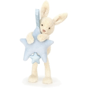 Star Bunny Blue Musical Pull