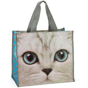 Silver Kitty Shopper