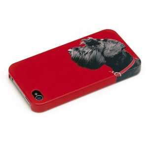 Terrier on Red iPhone Shell