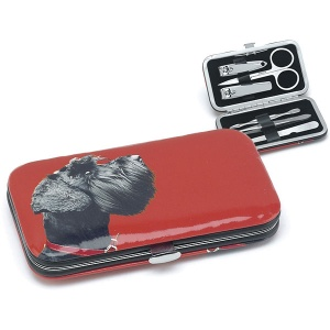 Terrier on Red Nail Care Set