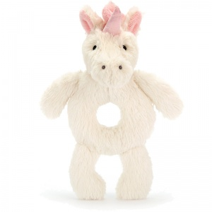 Bashful Unicorn Grabber Rattle