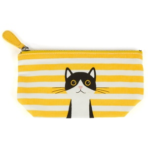Yellow Cotton Cat Small Pouch